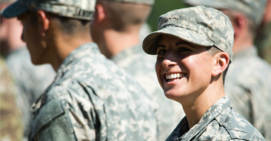 Some Republicans argue that if women can serve in combat, they should naturally be eligible for the draft if it were brought back. (Photo: Polaris/Newscom)
