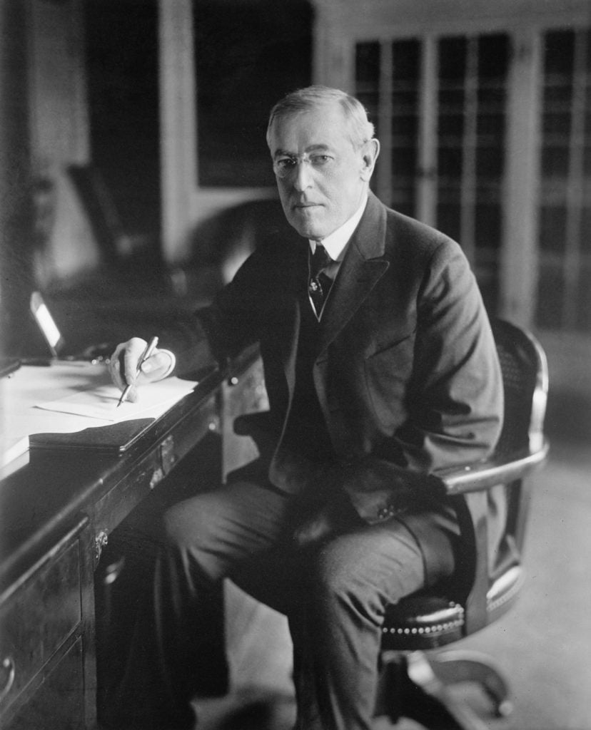 President Woodrow Wilson was re-elected in 1916 after having kept the U.S. out of war for two years. (Photo: JT Vintage/Zuma Press/Newscom)
