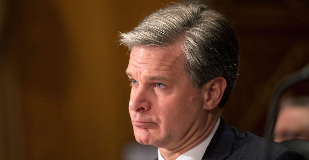 FBI Director Christopher Wray: Terrorists Likely to Use Drones to Attack 'Mass Gatherings'