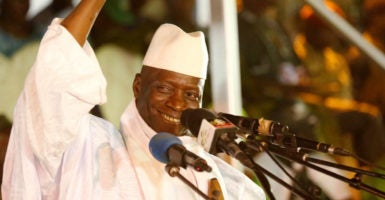 Gambian President Yahya Jammeh once boasted that he would rule The Gambia for a billion years. (Photo: Thierry Gouegnon/Reuters/Newscom)