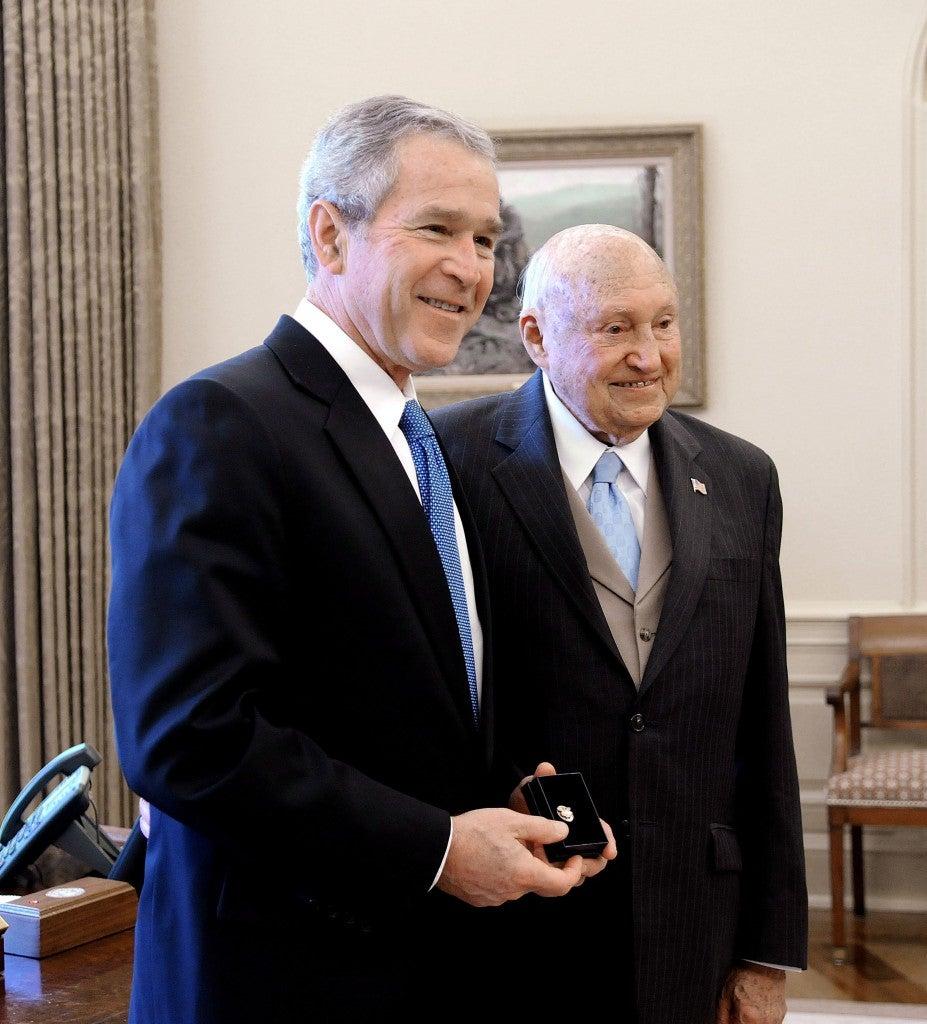 George Bush Presents The Lifetime President's Volunteer Service Award-Washington