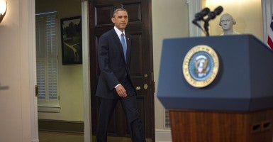 President Barack Obama announced in November a plan to defer deportation of immigrants here illegally.  (Photo:  Doug Mills/Pool/Newscom)