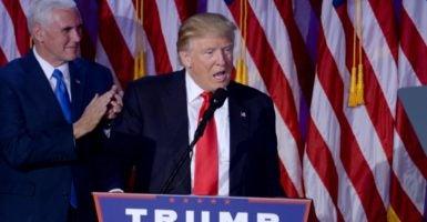 Donald Trump outperformed John McCain, Mitt Romney, and even George W. Bush—winning an overwhelming 81 percent of the evangelical vote. (Photo: Van Tine Dennis/ABACA/Newscom)