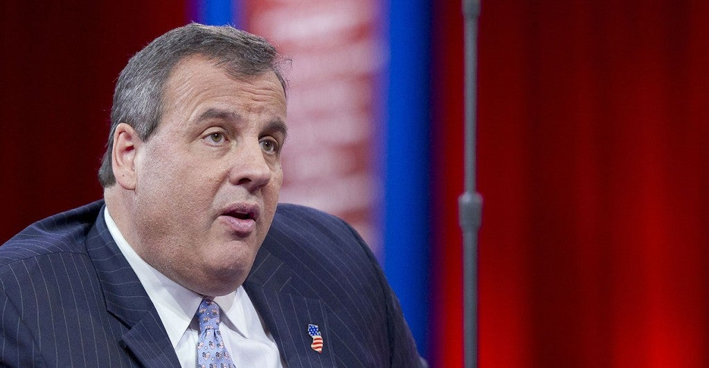 New Jersey Gov. Chris Christie makes an impression at CPAC. (Photo: Ron Sachs/Newscom)