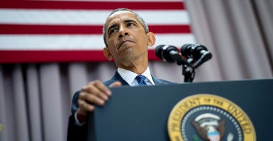 Obama shouldn't be OK with the current Iran deal. (Photo:  Pete Marovich/CNP/AdMedia/Newscom)