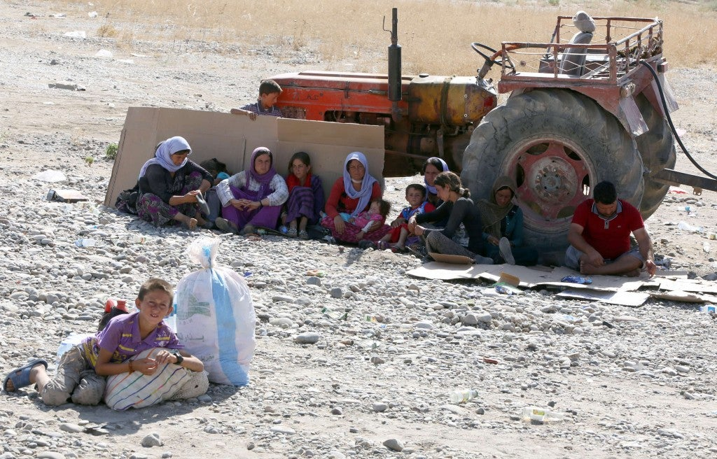IRAQ-SYRIA-UNREST-YAZIDI-DISPLACED