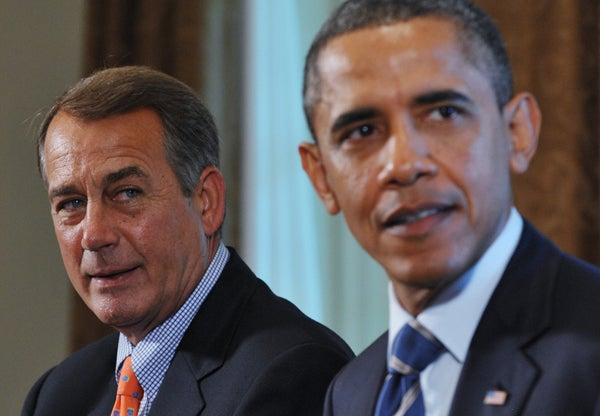 Speaker John Boehner and President Obama
