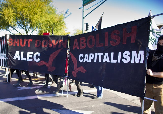 Protesters Try To Stop ALEC Meeting in Phoenix