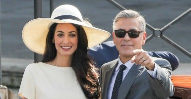 George and Amal Clooney in Venice last month, after their civil wedding ceremony. Credit: infit-10/INFphoto.com/Newscom