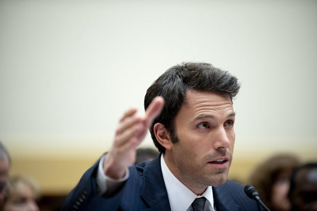 Ben Affleck testifies on Capitol Hill. (Credit: Pete Marovich/ZUMAPRESS/Newscom)