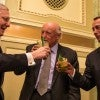 Senate Majority Leader Mitch McConnell, R-Ky., toasts House Speaker