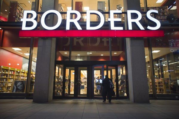 Borders bookstore in Penn Plaza in New York is seen on Wednesday February 16, 2011