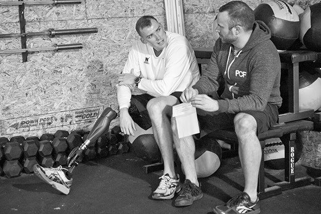 Pat Murray and Brian Wilson at CrossFit Walter Reed. (Photo courtesy of Brian Wilson)
