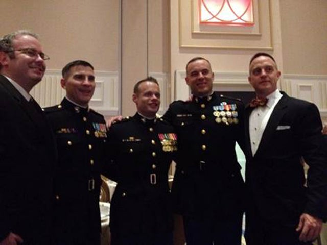 Brian Wilson (second from the left) at the USMC Birthday Ball. (Photo courtesy of Brian Wilson)