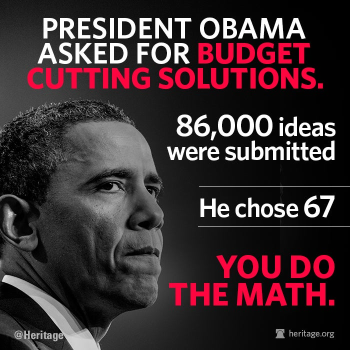Obama Ignores 85,933 Ideas to Save Money