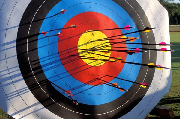 Arrows miss bullseye on target