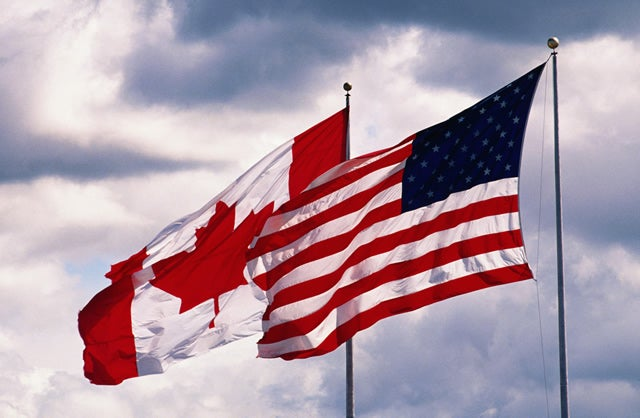 canadian-american-flags-border-crossing-blaine-vancouver