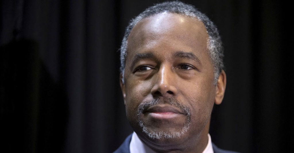 Carson is the first African-American picked for a Cabinet spot in the Trump administration. (Photo: Steve Marcus/Reuters//Newscom)