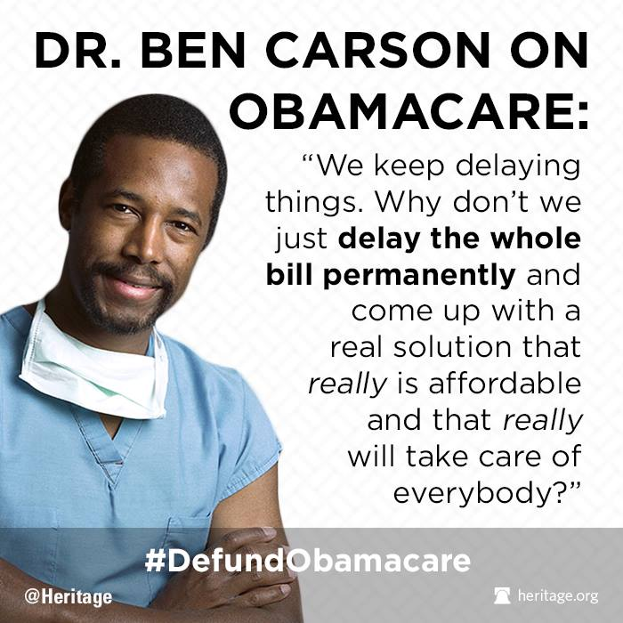 Carson Quotes: Dr. Ben Carson Hits Obamacare, Wins On Facebook