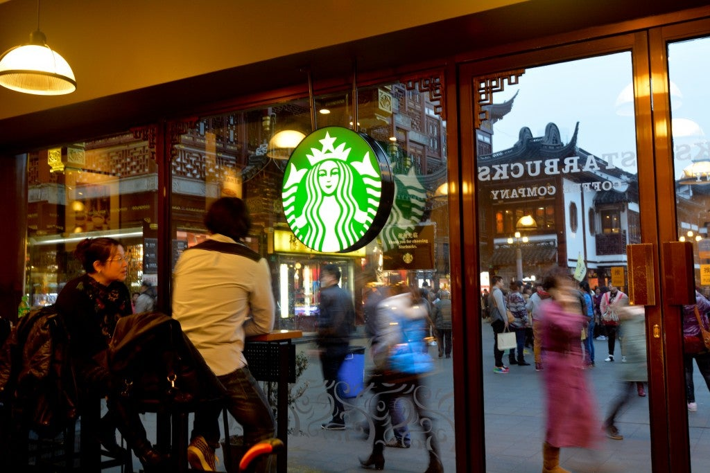 """Respect and inclusion"" are core values of Starbucks, the company says. (Rafael Ben-Ari/Chameleons Eye/Newscom)"