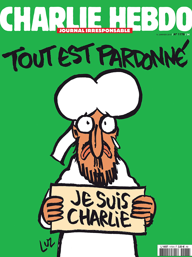 charlie hebdo releases first cover after terrorist attack
