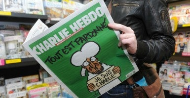 The first cover of Charlie Hebdo after the January terror attacks depicts Muhammad. (Photo: MAXPPP/Newscom)