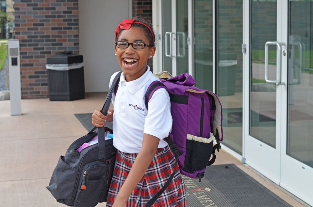 Aniyah Maddox is proud to share that last year at Achievement Preparatory Academy, she received Honor Roll in math all four quarters. (Photo: Daily Signal/Kelsey Harkness)