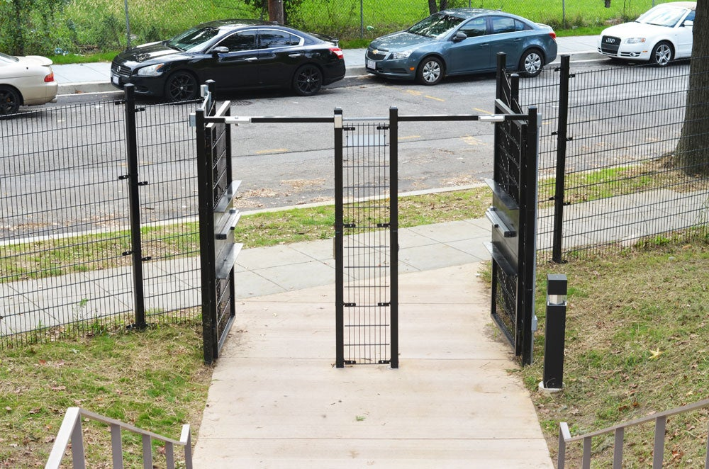 Brand new gates line the campus of Achievement Preparatory Academy in Washington, D.C. (Photo: Daily Signal/Kelsey Harkness)