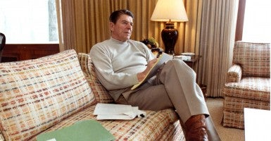 President Reagan signed into law the Economic Recovery Tax Act of 1981. (Photo: Newscom)