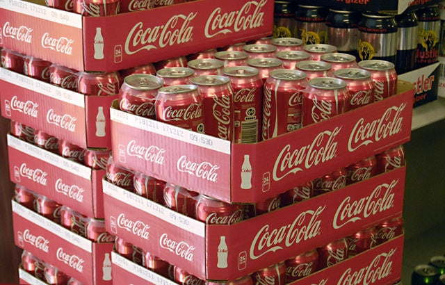 Coca coal cans drinks in Netto chain super market