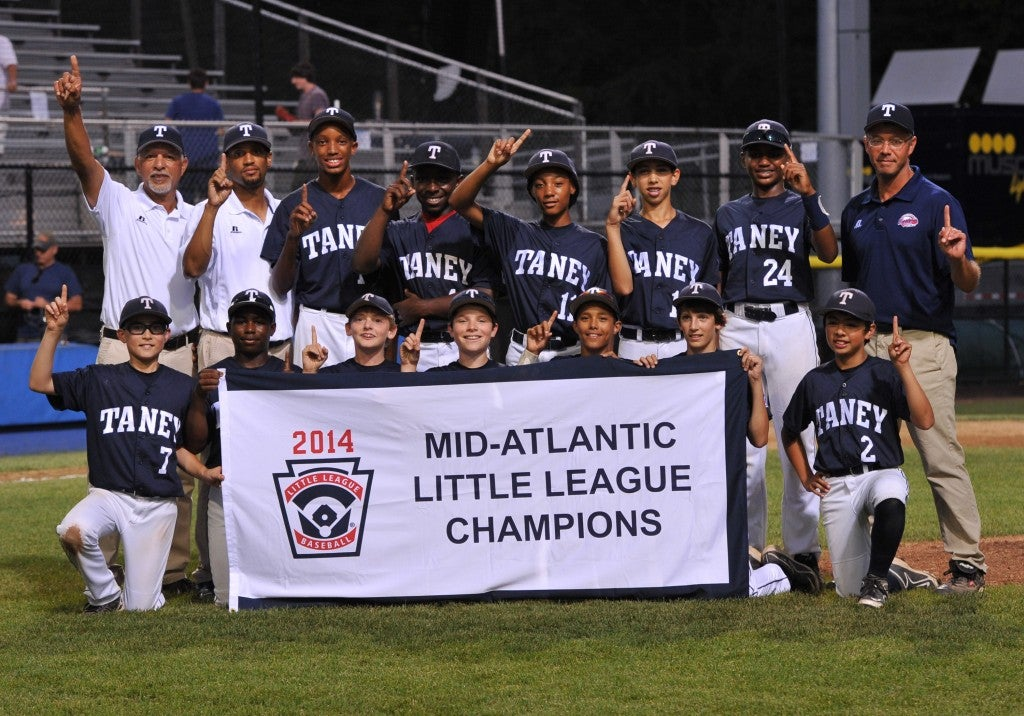 After Mo'ne's Taney Youth Little League team beat Delaware 8-0 in the 2014 Mid Atlantic Championship game Aug. 10. (Photo: Newscom)