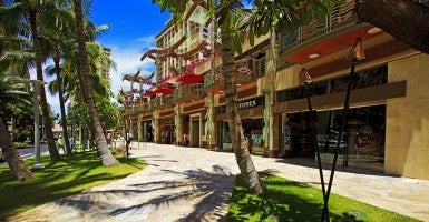 Hawaii, Oahu, Waikiki, Shops On Lewers Street. (Photo: Newscom)