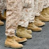 Currently, when it comes to sneakers, our troops are given a voucher and allowed to pick from about a dozen qualifying shoes from three manufacturers. (Photo: Carl Johnson/Newscom)
