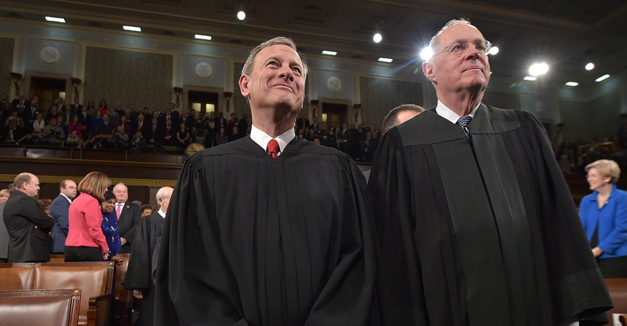 Chief Justice John G. Roberts and Supreme Court Justice Anthony M. Kennedy (Photo: Mandel Ngan/Pool/Newscom)