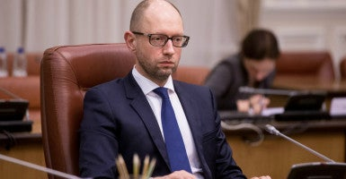 """We cannot allow destabilization of the executive branch during a war,""  Ukrainian Prime Minister Arseniy Yatsenyuk  said. (Photo: Kay Nietfeld/dpa/picture-alliance/Newscom)"