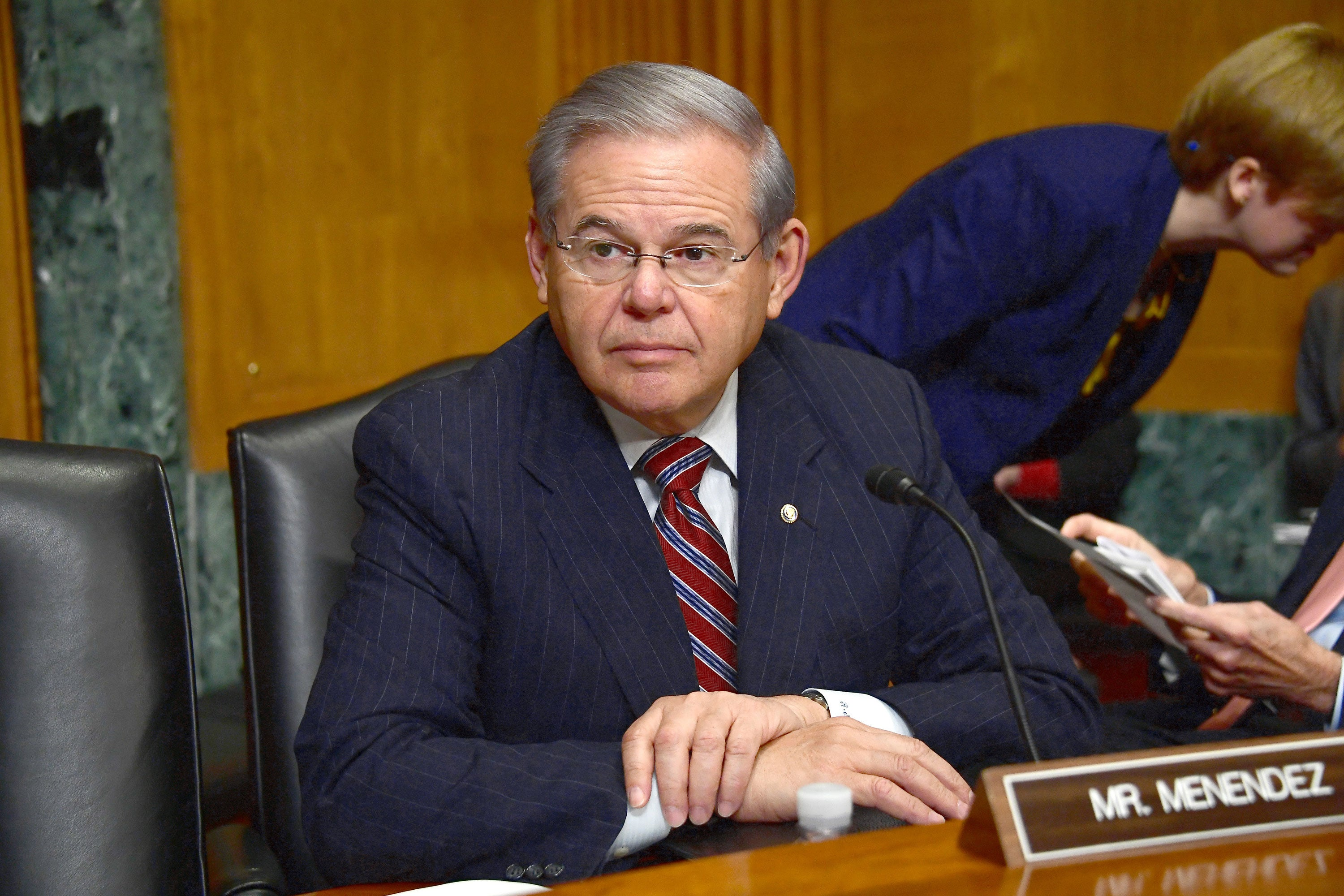 Sen. Robert Menendez, D-N.J., awaits the start of the confirmation hearing for Rep. Tom Price, R-Ga., before the Senate Committee on Finance, Jan. 24, 2017. (Photo: Ron Sachs/dpa/picture-alliance/Newscom)