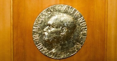 Nobel Peace Prize emblem (Photo: Newscom)