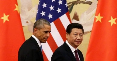 President Obama and Chinese President Xi Jinping. (Photo: Newscom)