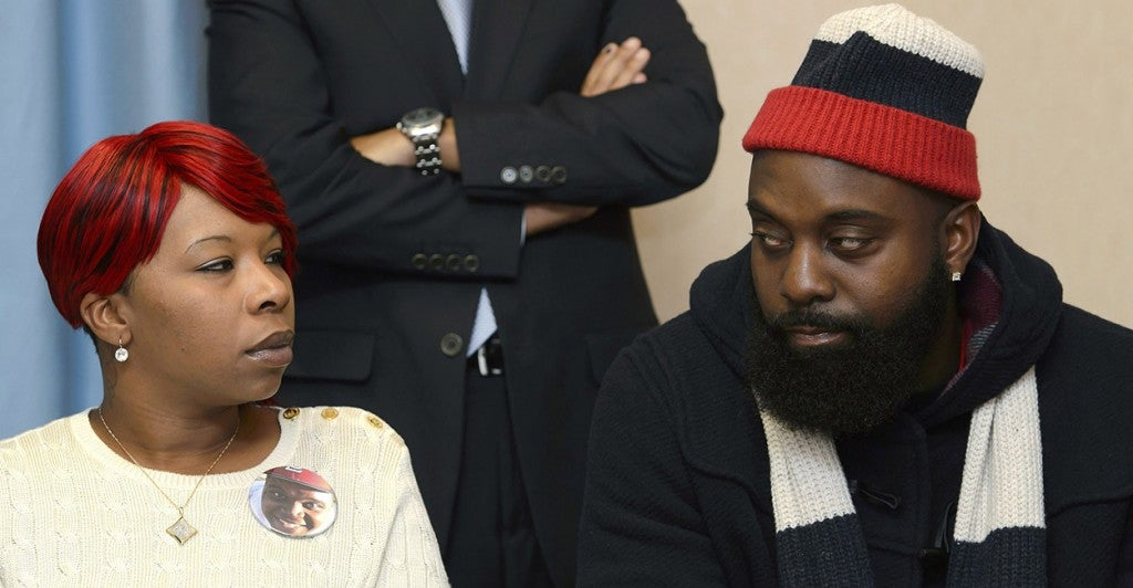 Son's killer 'did not face the consequences,' say Lesley McSpadden and Michael Brown Sr., parents of Michael Brown. (Photo: Martial Trezzini/Newscom)