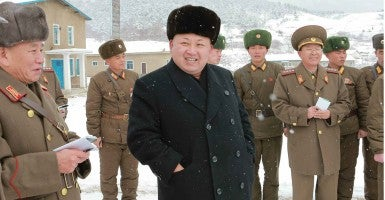 North Korean leader Kim Jong Un visits the North Korean military to inspect its winter training. (Photo: Rodong Sinmun/Newscom)