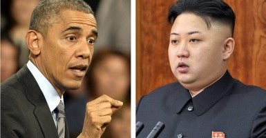 A composite showing US President Barack Obama North Korean leader Kim Jong-un. (Photos: Newscom)