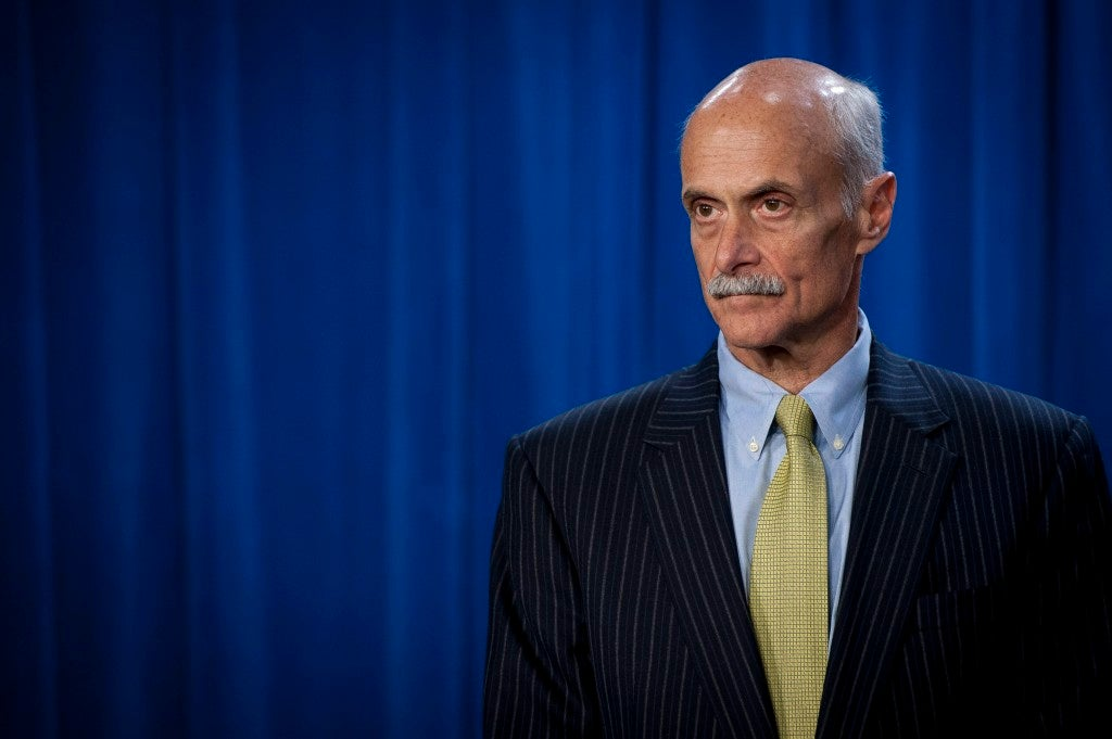 Former Homeland Security Michael Chertoff said the administration of President George W. Bush deliberately reached out to America's Muslims in a welcoming way. (Photo/EPA/Pete Marovich/Newscom)