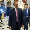 Republican Speaker of the House from Ohio, John Boehner walks back to his office March