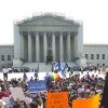 Outside the Supreme Court of the United States in June 2013 during the court's rul