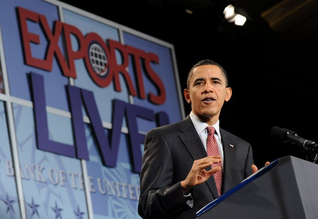 President Obama recently called for the reauthorization of the Export-Import Bank. (Photo: Kevin Dietsch/EPA/Newscom)