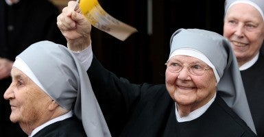 A sister at Little Sisters of the Poor. (Photo: Chris Radburn/Newscom)