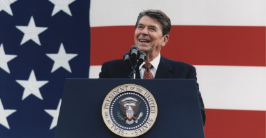 The prosperity of the 1980s, with growth rates higher than 6 percent, proved the Gipper correct on taxes. (Photo: Everett Collection/Newscom)