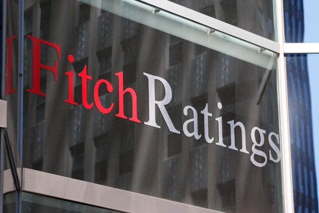 File photograph of Fitch Ratings building seen in New York