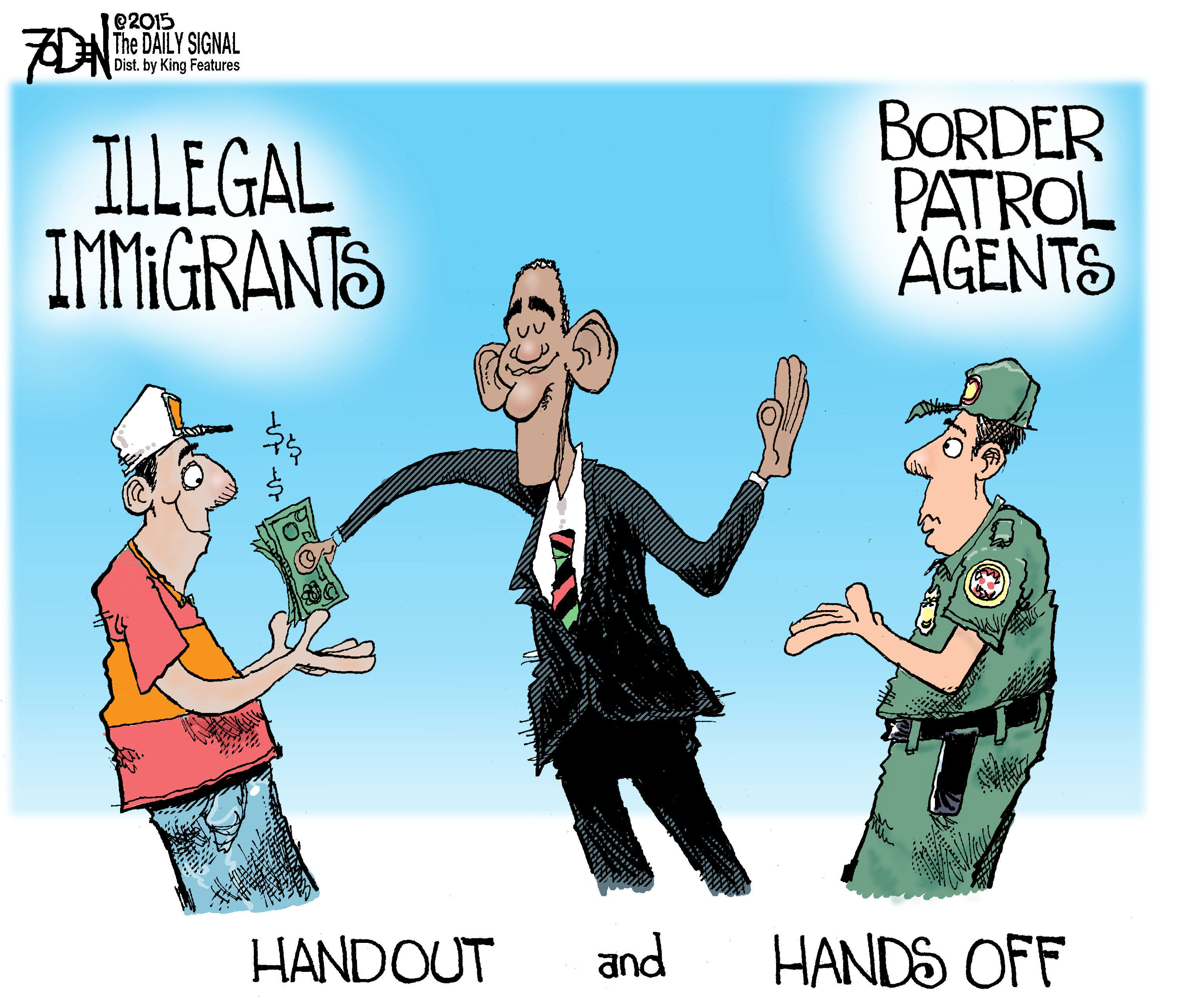 Cartoon: Obama\'s Handouts