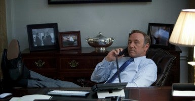 Actor Kevin Spacey as Frank Underwood. (Media Rights Capital/Album/Newscom)